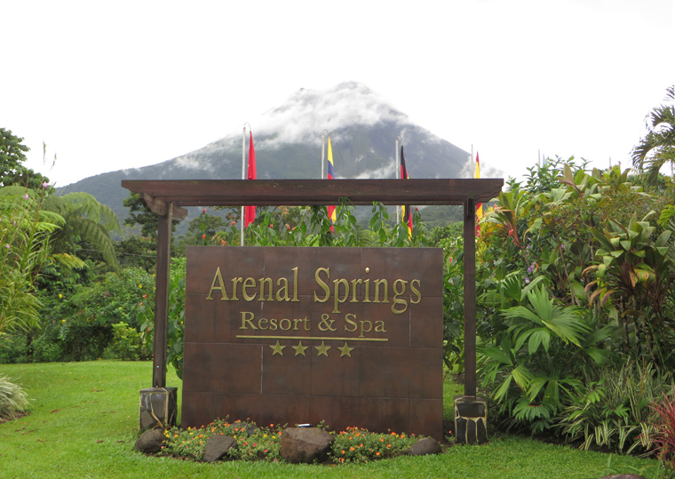 View of the volcano from Arenal Springs Resort
